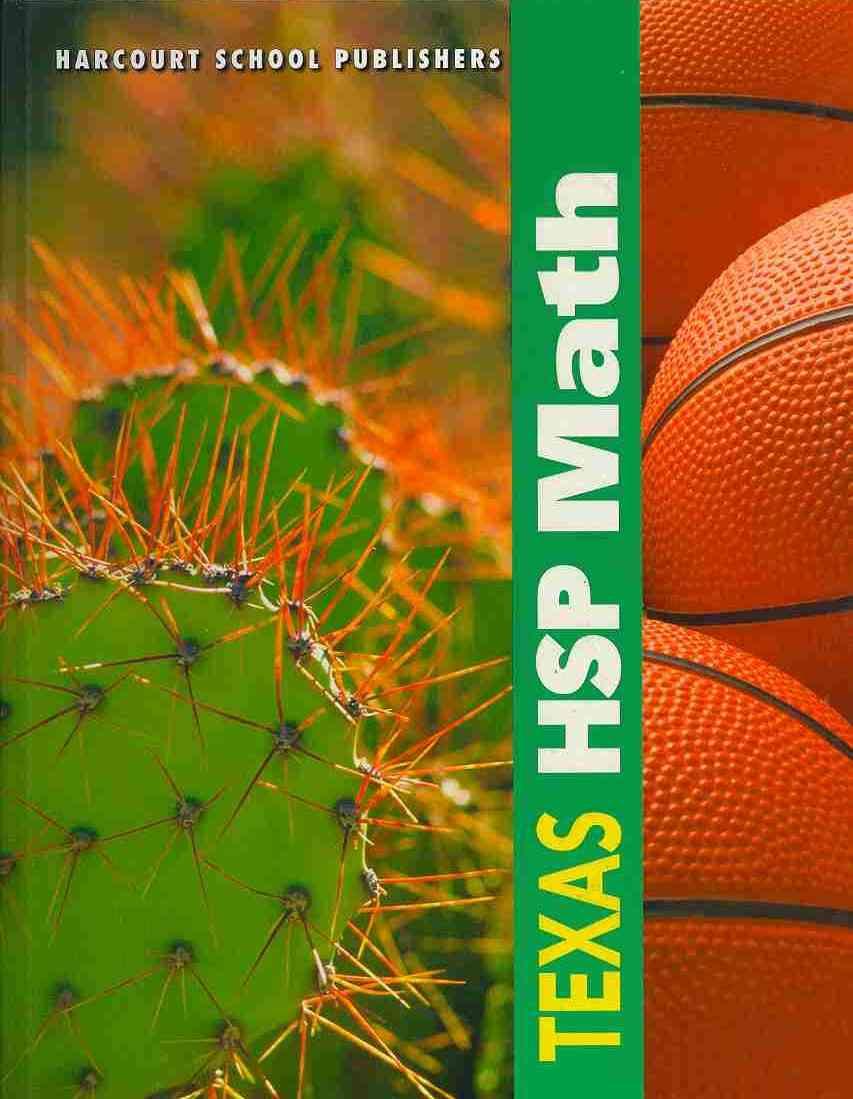 Hsp (COR),  Harcourt School Publishers - Math, Grade 3 - Harcourt School Publishers Math Texas