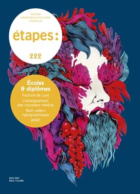 Collectif,  REVUE ETAPES - Etapes : design graphique & culture visuelle. n° 222, Ecoles & diplômes