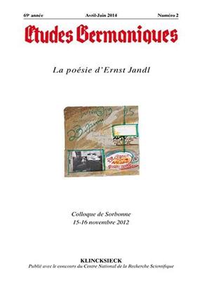 Collectif, Jean-Marie Valentin - Etudes germaniques. n° 274, La poésie d'Ernst Jandl : colloque de Sorbonne 15-16 novembre 2012
