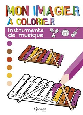 Collectif - Instruments de musique : mon imagier à colorier
