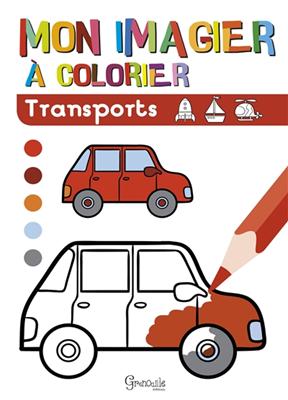 Collectif - Transports : mon imagier à colorier