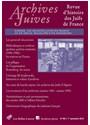 Collectif - ARCHIVES JUIVES N  49/1 - LES ARCHIVES JUIVES EN FRANCE AU XXE SIECLE, FRAGILITES D'UN PATRIMOINE