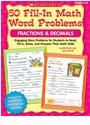 Bob Krech, Bob/ Novelli Krech, Joan Novelli - 50 Fill-in Math Word Problems Fractions & Decimals